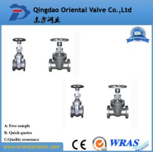 Flanged Stainless Steel Gate Valve for Oil Gas and Water Pn16 Dn450 pictures & photos