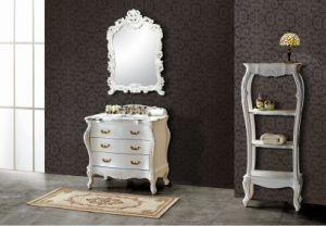 Mat White Classcial Bathroom Cabinet