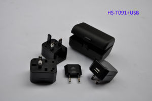 Universal Travel Adapter with USB Charger (HS-T091U) pictures & photos