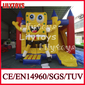 Popular Yellow Color Inflatable Bouncer Slide for Sale (J-BC-025) pictures & photos