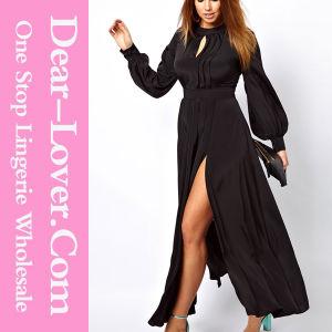 Women Black Maxi Evening Prom Plus Size Dress pictures & photos