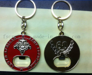 Gold New Custom Keychians Keyring for South African Army Foundation pictures & photos