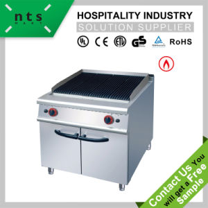 Gas Lava Rock Grill with Cabinet for Hotel & Restaurant Kitchen Equipment pictures & photos