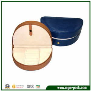 Special Design Half-Round PU Leather Cosmetic Storage Box pictures & photos