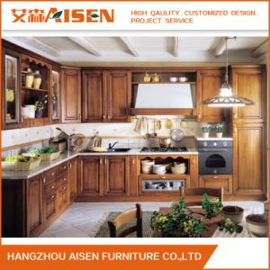 Wooden Kitchen Furniture New Solid Wood Kitchen Cabinets pictures & photos