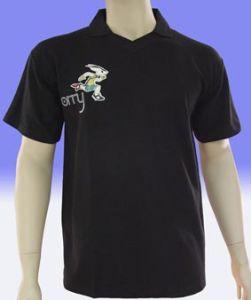 Solid Black Color Pique Polo T-Shirt pictures & photos