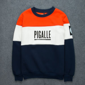 Patch Sweater Contrast Color Letter Printing Sweatshirt pictures & photos