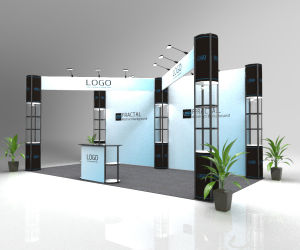10FT Folding Column LED Light Weight and Durable Trade Show Booth pictures & photos