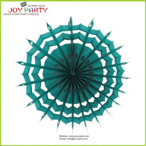 Chrsistmas Green Honeycomb Snowflake Paper Fan pictures & photos