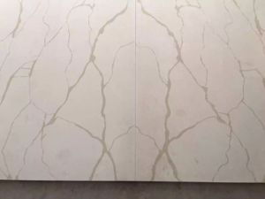 Calacatta White Marble Color Quartz Stone for Tops and Tiles