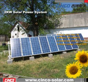 Solar Power System, 2000W off-Grid Solar Power System, Stand-Alone PV Solar Kit for Home Used (CNCH-2000W)
