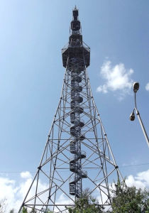 Advanced Configuration GSM Telecom Four Legged Tubular Steel Tower pictures & photos