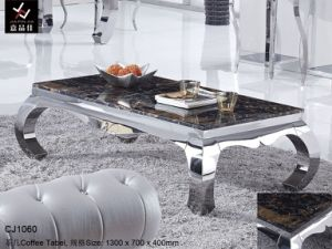 Modern Stainless Steel Hotel Coffee Table (CJ1060)