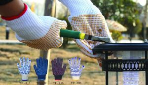 Construction Glove, Safety PVC DOT Glove, Gloves Dotted pictures & photos