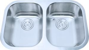 Stainless Steel Double Undermount Kitchen Sink (D93) pictures & photos