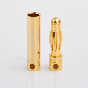 4.0mm Gold Bullet Connector, Banana Connector