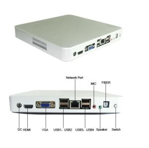 Thin Client Mini PC CPU Intel D2500 Dual Core 1.86g RAM 2g Window 7 PC Embedded PC Linux PC Station