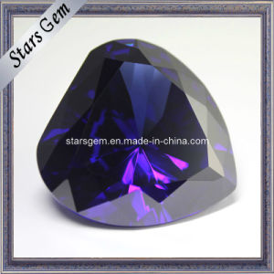 Big Size Heart Shape Tanzanite CZ Gemstone pictures & photos