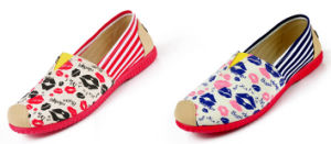 Women′s High Quality Canvas Flats Slip-on Lazy Shoes Loafer pictures & photos