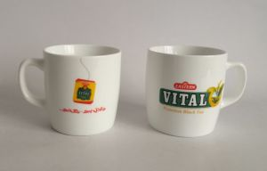Hot Sale Promotional Porclein Cup with Customized Logo pictures & photos