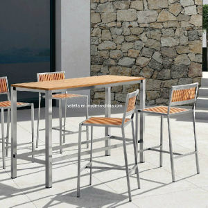 Patio Teak Stainless Steel Outdoor Bar Set pictures & photos