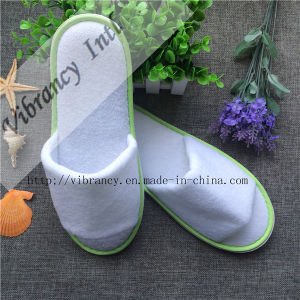 Custom Design White Terry Women Slipper Comfortable Terry Hotel Slipper pictures & photos
