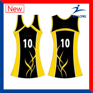 Designer Dye Digital Printing Netball Dress with High Quality pictures & photos