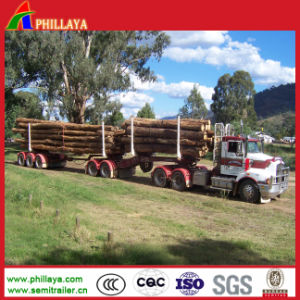 Two Axles 40FT Transport Wood Trailer pictures & photos