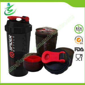 500ml Wholesale Spider Shaker Bottle with Compartments pictures & photos
