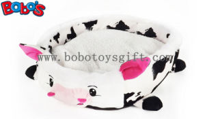 Wholesale Price Plush Stuffed Cow Shape Pet Bed for Puppy Cat Dog Bosw1092/45X40X13cm pictures & photos