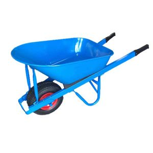 Big Tray Straight Steel Handle Wheelbarrow (Wb8614)
