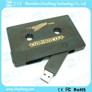 Cassette Shape Plastic USB Drive with Custom Label Logo (ZYF1237)