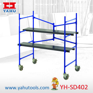Portable Folding Mini Scaffolding Platform with Wheels pictures & photos