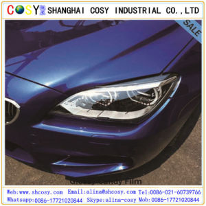 1.52*50m Glossy/Matte Blue Vinyl Sticker /Car Wrap Sticker with Air Bubble Free pictures & photos