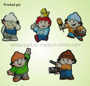Lovely CMYK Printed Metal Pins