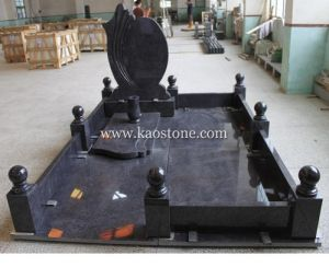 European Heart Headstone, Black Granite Stone Monument Tombstone for Cemetery pictures & photos