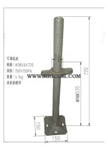 Hot DIP Galvanized Scaffold Adjustable Base Jack pictures & photos