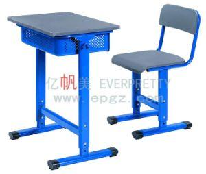 Student Furniture Adjustable Single Desk Chair Sets pictures & photos