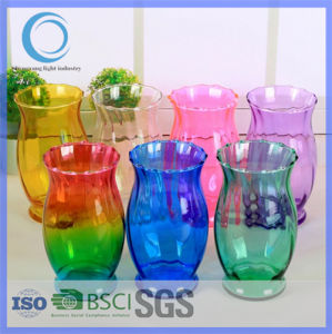 Hot Sell Colorful Decoration Glass Flower Vase pictures & photos