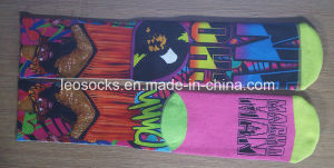 Men Sublimation Basketball Socks with Printing Design pictures & photos