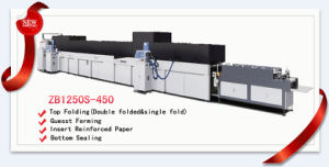 Full Automatic Paper Bag Machine with Top Fold and Bottom Cardboard Inserting Zb1250s-450 pictures & photos