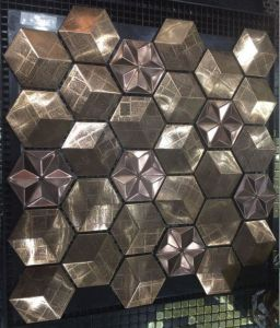 Hexagon Stainless Steel Metal Mosaic pictures & photos