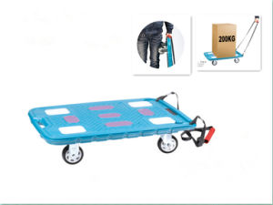 Mute Pallet Platform Hand Cart (SX200-D011/012) pictures & photos