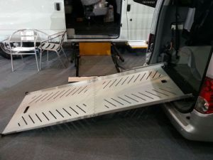 Steel Wheelchair Loading Ramp for Van pictures & photos