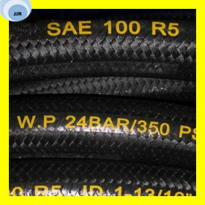 Premium Quality One High Tensile Steel Wire Braid Textile Covered R5 Hose pictures & photos