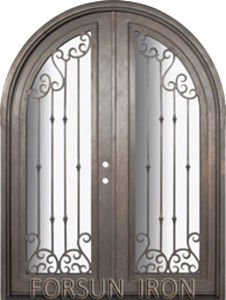 Full Round Wrought Iron Door Design for Villa pictures & photos