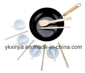 Kitchenware Carbon Steel Non-Stick Wok Cookware pictures & photos