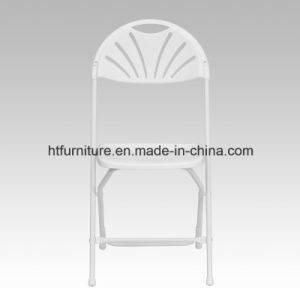 Lightweight White Fan Back Plastic Folding Chair pictures & photos