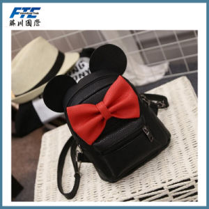 PU Leather Mini Ears Backpack with Good Quality pictures & photos