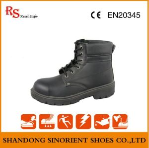 Black Action Leather Goodyear Welt Safety Shoes RS049 pictures & photos